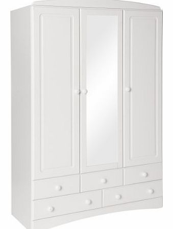 3 Door Wardrobe With 4 Drawers