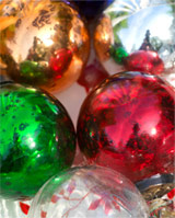 Nkuku Recycled Glass Christmas Tree Baubles (mixed