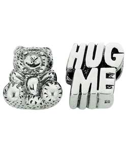 Sterling Silver Childs Bear and Hug Me Charms