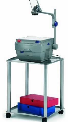 Overhead Projector Trolley with 30 kg Load Capacity, Steel Grey