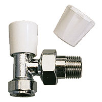 Non-Branded Angled Radiator Valve 15mm x 1/2