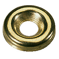 Solid Brass Screw Cups 6 Gauge Pack of 100