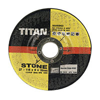 Titan Stone Grinding Discs 115 x 6 x 22mm Pack of 5