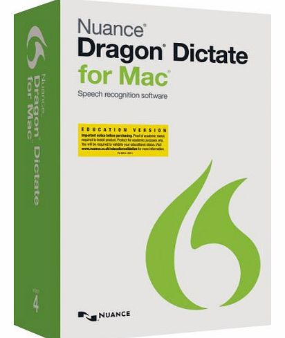 Nuance Communications Dragon Dictate for Mac 4.0 Educational Online Validation Program (Mac)
