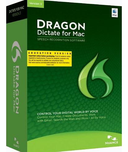 Nuance Communications, Inc. Dragon Dictate 3.0: Educational Online Validation Program (Mac)