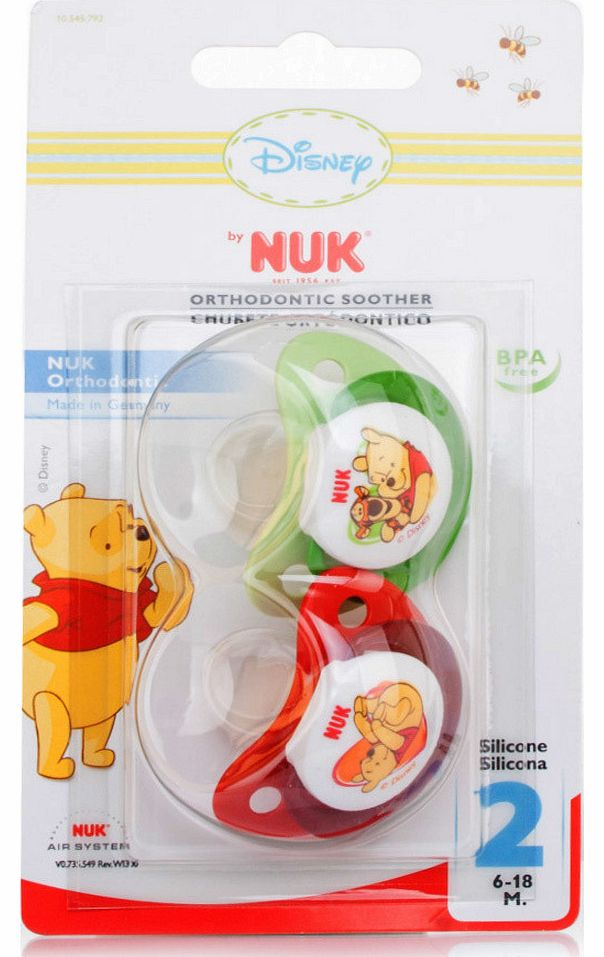 NUK Winnie the Pooh Silicone Soother S2