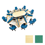 8-Person Call Centre With 8 Green Screens