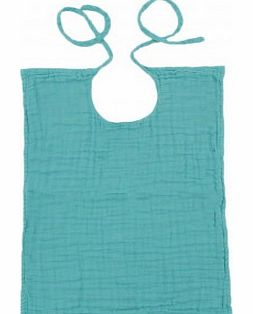 Square bib Turquoise `One size