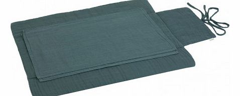 Travel changing mat - Grey blue `One size