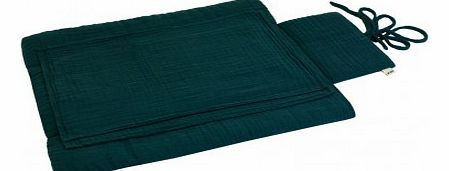 Travel changing mat - Petrol blue `One size