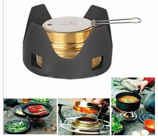 05 Solid-liquid Alcohol Burner Camp Cooking Stove Backpacking Outdoor Camping BBQ