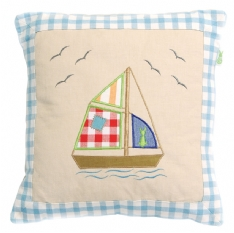 Boat House Appliqued Cushion