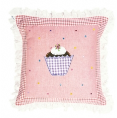 Gingerbread Appliqued Cushion