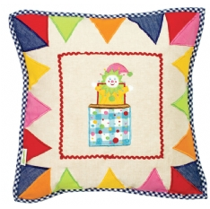 Toy Shop Appliqued Cushion