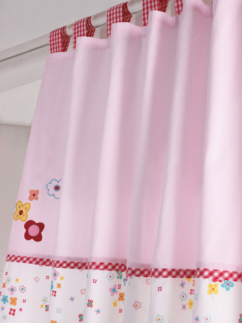 Cherry Blossom Tab Top Curtains