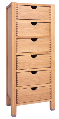 CHEST TALL 6 DRAWER ALBA