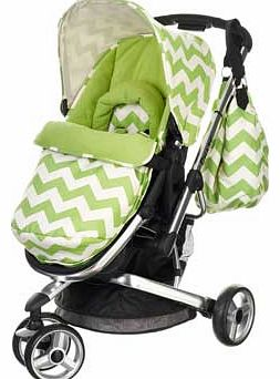 Chase 3 in 1 Pram and Pushchair - ZigZag