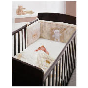 Grace Cot Bed, Dark Pine With Cream
