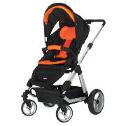 Zynergi Condor 4S Pushchair, Black & Orange