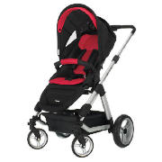 Zynergi Condor 4S Pushchair, Black & Red