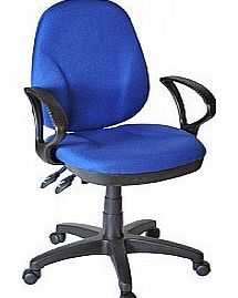 Comfort Ergo 2-Lever Operator Chair With Fixed Arms - Blue
