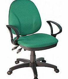 Comfort Ergo 3-Lever Operator Chair With Fixed Arms - Aqua