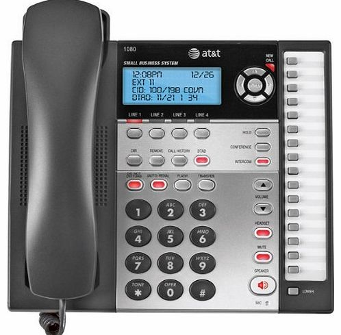 AT&T 1080 4-Line Speakerphone with Answering System and Caller ID Office Supplies Store Online, ofice