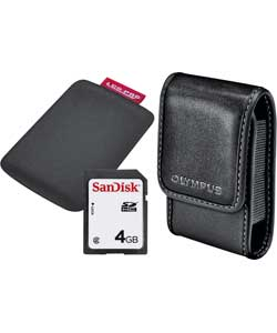 Olympus Accessory Kit with 4GB Memory Card