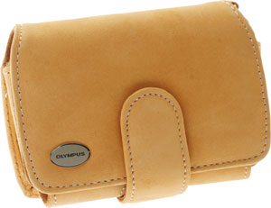 Compact Camel Suede Case For Stylus 740, 750, 1000, FE-170, and FE-200 Digital Cameras