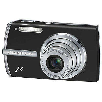 Mju 1200 Black Compact Camera Luxury Kit