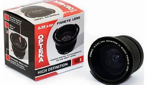 .35x HD² Super Wide Angle Panoramic Macro Fisheye Lens for Panasonic Lumix DMC-FZ18 & DMC-FZ28 Digital Camera
