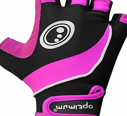 Womens Nitebrite Fingerless Gloves - Black/Pink, X-Small
