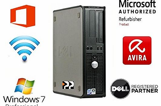 Brand New USB Stick with Refurbished Dell Optiplex 760 Desktop Computer - Windows 7 - Powerful Intel Core 2 Duo 5.0Ghz (2 x 2.5Ghz CPU) - Wi Fi Enabled - 250Gb Hard Drive - 4Gb Memory - Brand New Dvd