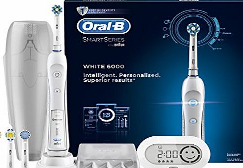 Pro 6000 Smart Series With Bluetooth Technology Electric Rechargeable Toothbrush Powered by Braun