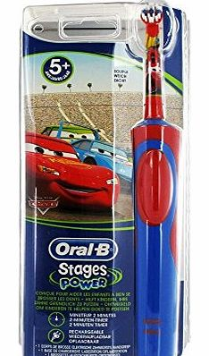 Stages Power Electric Toothbrush for Children 5 Years and + - Colour : Cars