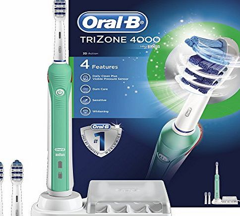 Trizone 4000 Electric Rechargeable Toothbrush Powered by Braun