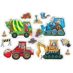 Big Wheels 6 x 2 Piece Jigsaw Puzzles