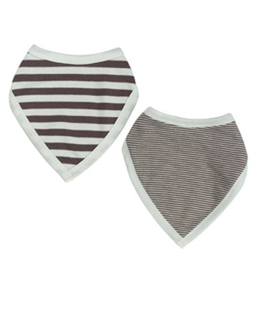 Brown Reversible Bandanna Bib