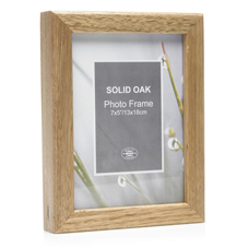 Other Wilko Photo Frame Solid Oak 7in x 5in