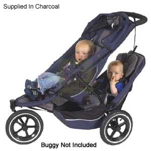 Out N About Phil and Teds E3 Extra Seat Kit V2 Charcoal Pushchair