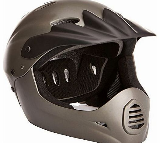 Titan Full Face Helmet - Dark/Grey, 54-58 cm