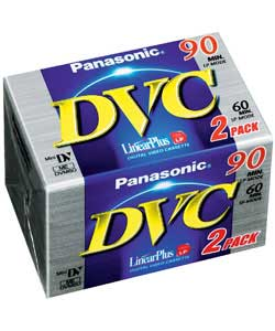 panasonic 60 Mins Mini DV Tape 2 Pack