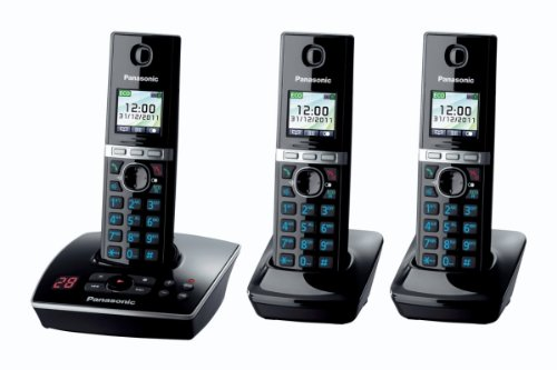 KX-TG8063EB Triple Colour DECT Phone Set with Answer Machine