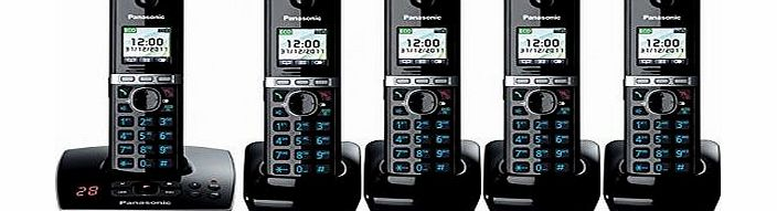 KX-TG8065 Quint Cordless Phone with Answering Machine ( DECT,Hands Free Functionality )
