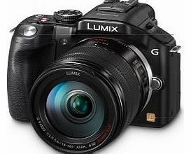 Lumix DMC-G5HEB-K Compact System Camera with 14-140mm Lens - Black (16.5MP) LCD