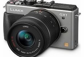 Lumix DMC-GX1 16 Megapixel Compact System Camera Kit with 14-42mm Standard Zoom Lens - Silver