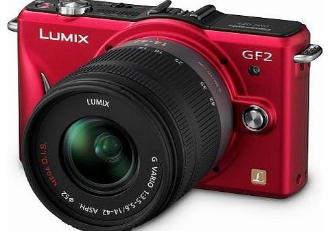 Lumix GF2 Digital Camera with 14-42mm Lens - Red
