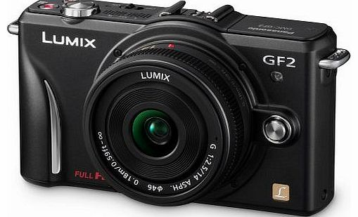 Lumix GF2 Digital Camera with 14mm Lens - Black