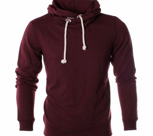 Paramount Funnel Neck Regular Fit Hoody - Burgundy S