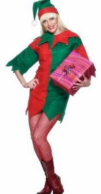 Elf Costume - Ladies Medium Size - Fancy Dress Costume